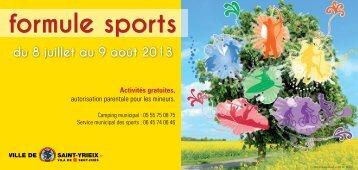 Formule Sports 2013 - Saint-Yrieix-la-Perche