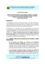 Documento de trabajo Aportes de la Mesa Nacional para la Gestión ...