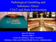 Pathological Gambling and Substance Abuse - Treatment ...
