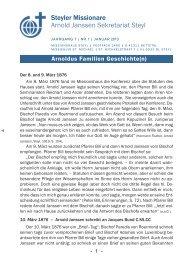 Rundbrief Nr. 01/2013 - Steyler Freundes- und Partnerkreise