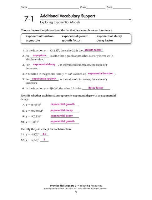 Chapter 7 Answers
