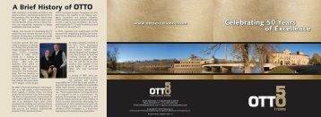 Celebrating 50 Years of Excellence Celebrating 50 Years of ... - Otto