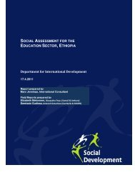 Social Assessment for the Education Sector, Ethiopia - Ministry of ...