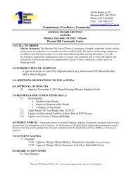 Dec 10 2012 Board Mtg Agenda - Pleasant Hill School District #1