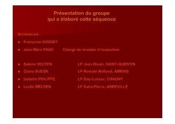 Diaporama de présentation - Economie et Gestion au lycée ...