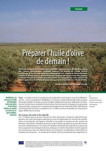 Préparer l'huile d'olive de demain ! - EU Neighbourhood Info Centre