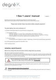 I See Notice d'utilisation GB v0912 - Degré K