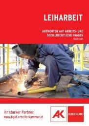 LEIHARBEIT - AK Burgenland - Arbeiterkammer