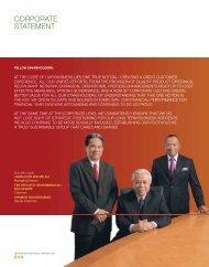CORPORATE STATEMENT - QSR Brands Bhd.