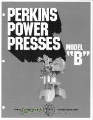 Perkins Power Presses Model B Brochure - Sterling Machinery