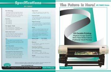 The Future Is Here! The Future Is Here! RP-720UVZ Printer ...