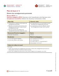 Plan de leçon no 2