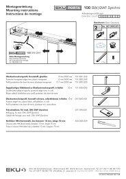 Montageanleitung - Eku AG