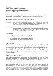 Protokoll - Institut für Medizinische Biometrie, Epidemiologie und ...