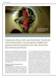Implenia Bau AG und Küchler Technik AG entwickeln innovatives KIBS