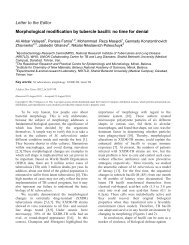Morphological modification by tubercle bacilli: no time for denial
