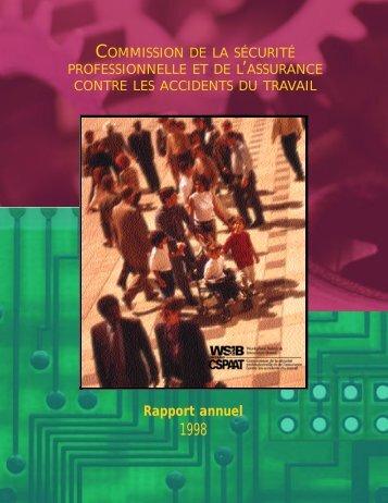 Rapport annuel 1998 - wsib