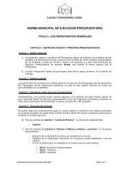 Presupueto del ejercicio 2008 Presupuesto del ejercicio 2007