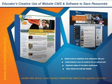 Educator's Creative Use of Website CMS & Software to ... - Ohio ACTE