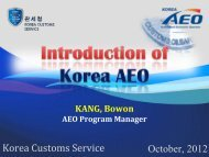 Implementation of Authorized Economic Operator in Korea and the ...