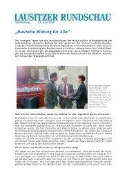 """""""Musische Bildung für alle"""" - DIE LINKE. Dr. Gerd-Rüdiger Hoffmann"""