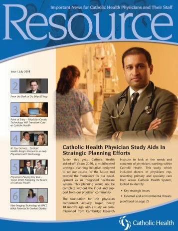 Catholic Health Physician Study Aids In Strategic Planning Efforts