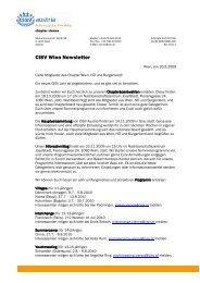 Newsletter Chapter Wien 2009-09 - CISV