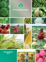ACI Formulations Limited Annual Report 2012