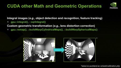CUDA Geometric Operations
