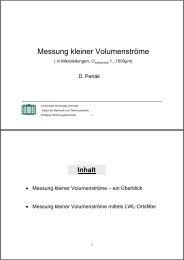 Messung kleiner Volumenströme