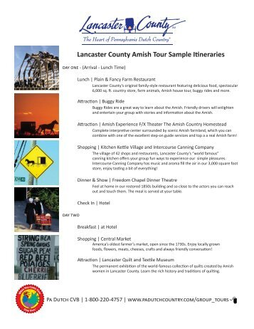 lancaster county spiritual day tour sample itinerary lancaster county amish tour sample itineraries group tours