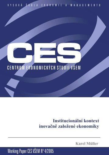 Working Paper CES VÅEM No 4/2005