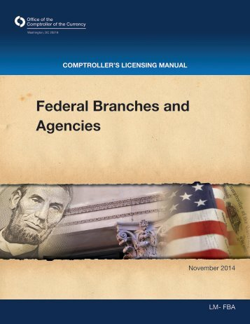 Federal Branches and Agencies - OCC
