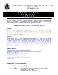Cold-Formed Steel (CFS) Load Bearing Systems ... - SEAoT