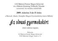 2009. március 3-án 11 órára - II. Rákóczi Ferenc Megyei Könyvtár