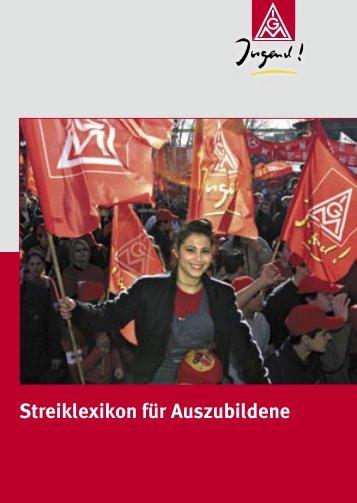 Streiklexikon für Auszubildene - IG Metall 4 you