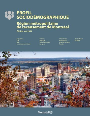 PROFIL SOCIODÉMOGRAPHIQUE