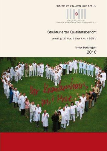 Qualitätsbericht 2010 - Gesundheitsstadt Berlin