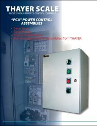PCA Power Control Assemblies - Thayer Scale