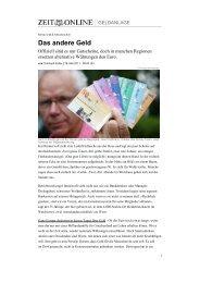 Das andere Geld - Waldviertler Regionalwährung