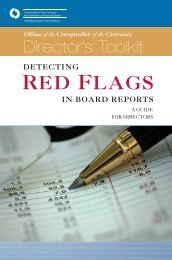 Detecting Red Flags in Board Reports, A Guide for Directors - OCC