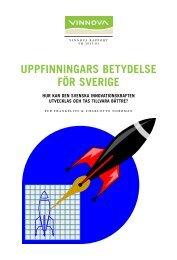 Uppfinningars betydelse för Sverige - Hur kan den ... - Vinnova