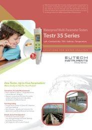 Testr 35 Series Brochure - Eutech