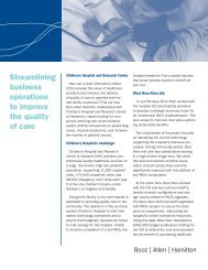 Streamlining business operations to improve the quality of care