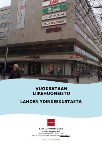 vuokrataan liikehuoneisto lahden ydinkeskustasta - Toimitilat.fi