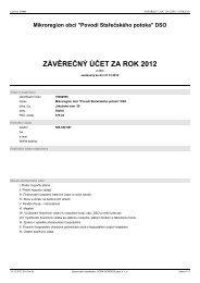 ZÁVĚREČNÝ ÚČET ZA ROK 2012 - Městys Stařeč