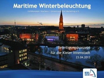 Maritime Winterbeleuchtung - Kiel-Marketing