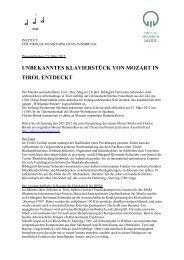 Pressemitteilung 23. März 2012 - Musikland Tirol