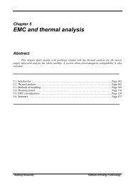 EMC and thermal analysis - Space.aau.dk