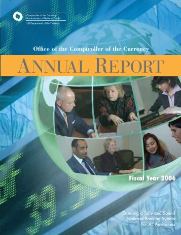 OCC Annual Report, FY 2006 - Department of the Treasury